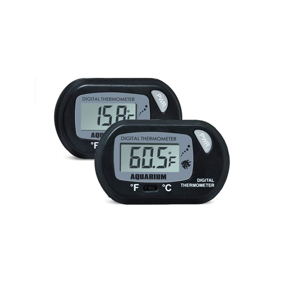 Aofocy Acuario de Peces Termómetro LCD Digital Tipo de Ventosa Marine Vivarium Termómetro para Tanque de Peces Reptil Caja Pet Box Termómetro: Amazon.es: ...
