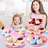 bromrefulgenc Toddlers Cake Tower with 16*Cake Toys, 4 x Round Plates and 3 x Pillars for 4 5 6Years...