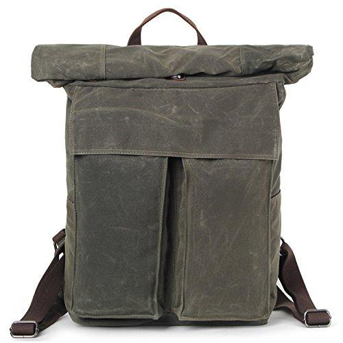 mefly viajes hombres de mochila ocio Simple impermeable Super gran capacidad, azul marino Army green