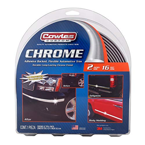 - Cowles Body Molding - 2in x 16ft Chrome Molding For Trucks (S38900)