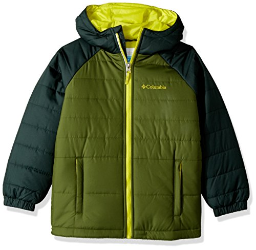 Price comparison product image Columbia Little Boys' Tree Time Puffer Jacket,  Pesto,  Deep Woods,  XX-Small