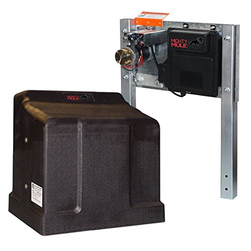 (Mighty Mule MM-SL2000B Gate Opener Upto 30' or 1,000lbs, Black)