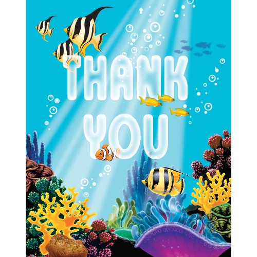 Creative Converting Ocean Party 8 Count Thank You Cards]()
