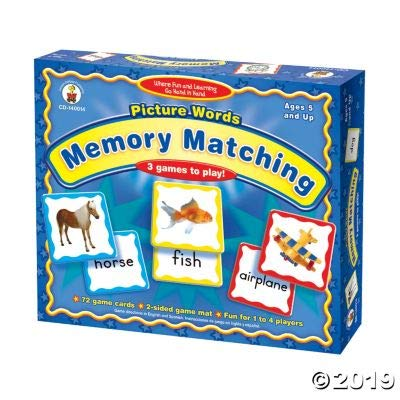 Fun Express Picture Words Memory Game - 73 Pieces - Educational and Learning Activities for Kids: Toys & Games