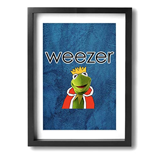 PSnsnX Weezer Band Rock -Photo Paintings Canvas Wall Art Prints Modern Home Decoration Giclee Artwork-Wood Frame Ready to Hang 12