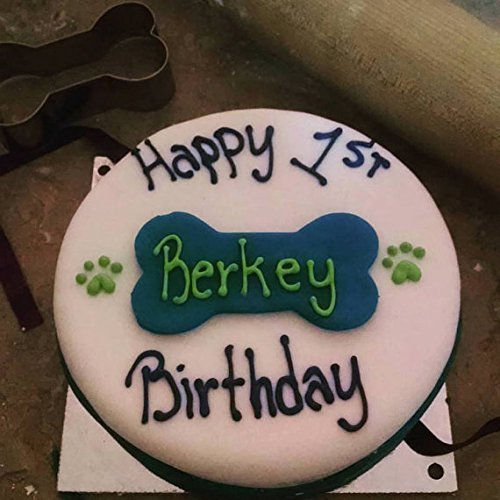 Dog Birthday Cake with bone
