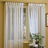 Best IYUEGO Eclipse Curtains Eclipse Curtains Blinds - IYUEGO Linen White Solid Sheer Curtains Double Pleated Review