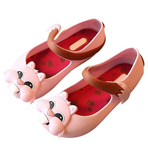 Zhuhaixmy Kinder Baby Mädchen Jungen Anti-Rutsch Squirrel Weich Gelee Lässige Schuhe Kleinkind Strand Sandalen Regen Stiefel Pink