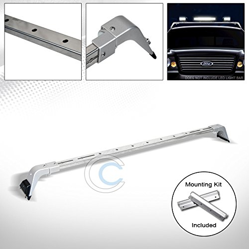 AutobotUSA HS Power CHROME SILVER DELUXE ROTA LIGHT LAMP BAR MOUNT+ROOF GUTTER RACK BRACKETS 220042 S & T RACING INC