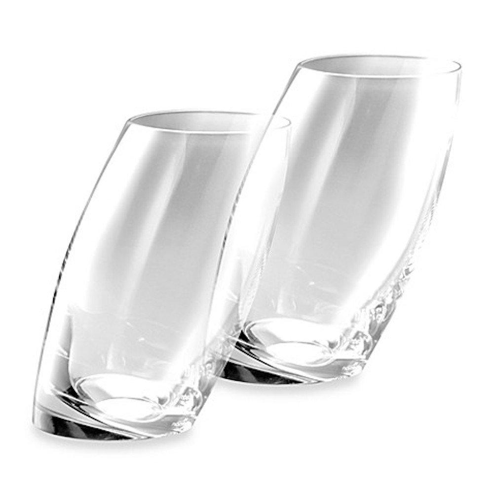 Nambè Tilt Highball/Beverage Glasses, 16-Ounce, Set of 2