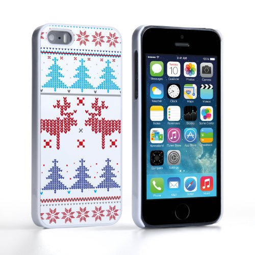Caseflex iPhone 5 / 5S Case Christmas Heart Reindeer Tree Jumper Hard Cover