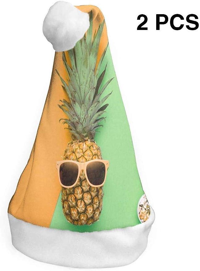 Sombreros de Navidad Paquete de 2 Moda Hipster Piña Fruta Tropical ...
