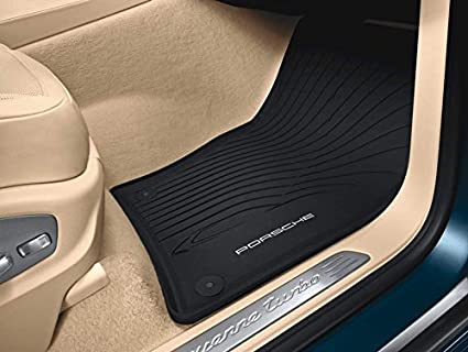 Image Unavailable. Image not available for. Color: Porsche Cayenne 2012 to 2014 All Weather Floor Mats ...