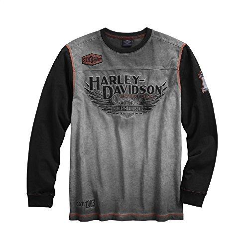 Harley-Davidson Official Men's Iron Block Pullover, Grey (Large)