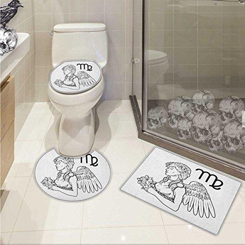 Zodiac Virgo 3 Piece Toilet Cover set Astrological