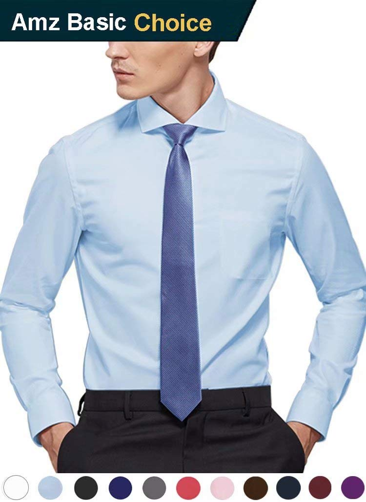 diig Men Dress Shirt Light Blue 16.5
