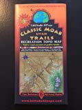 Classic Moab Utah Trails Recreation Topo Map (Trail & Road Access on Public Lands)