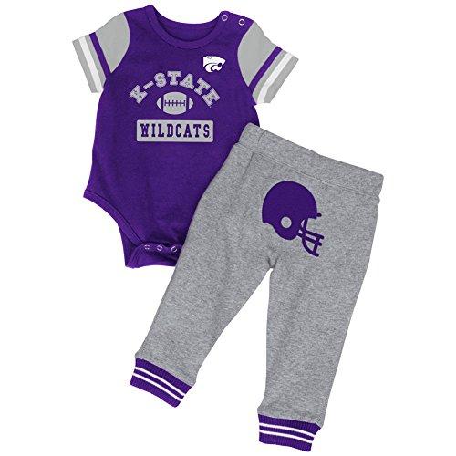 Colosseum Baby Boys' MVP Kansas State University Bodysuit and Pant Set (6-12 M)
