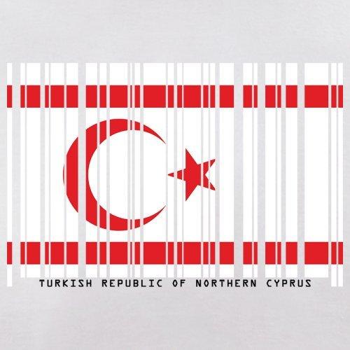 Turkish Republic of Northern Cyprus / Türkischen Republik Nordzypern Barcode Flagge - Herren T-Shirt - Weiß - S