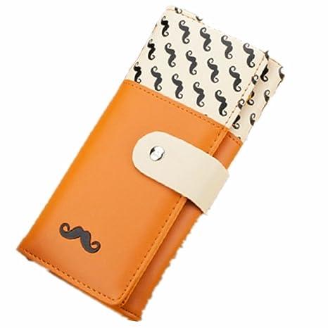 Bonita cartera de piel para mujer, bolso monedero para ...