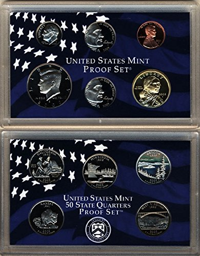 Mint Box and COA 11 coins 5 State Silver Quarters 2005 Silver Proof Set U.S