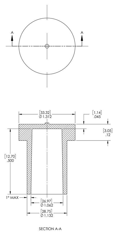 Red Caplugs QAS13835AQ1 Plastic Electrical Connector Dust Cap AS138-35A PE-LD Pack of 500 Please See Drawing Meets New SAE Aerospace Specification AS85049//138