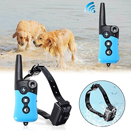 E-Collar Rechargeable Remote Shock Collar Waterproof Dog Training Collar Electric Pet Callar (Plug US plug)