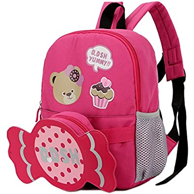 b38cfea60d9f Kid Backpack Boy Preschool Bear Dog with Leash Safety Harness Chest Strap  Bag durable service