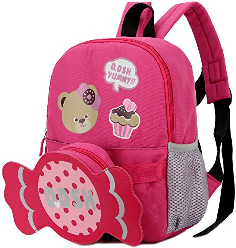 Baby Kids Toddler Walking Backpack Reins Bag(Pink) - 1