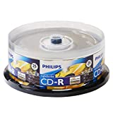 Philips Lightscribe Blank Media Disc CD-R 52X Speed / 700MB / 80min - 25PK Cake Box