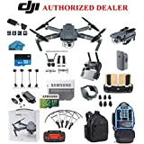 DJI Mavic Pro Drone Quadcopter 4K Professional Camera Gimbal Bundle Kit with 32GB SD Card + 3.0 Card Reader, Landing Gear, Prop Guards and Must Have Accessories with Backpack