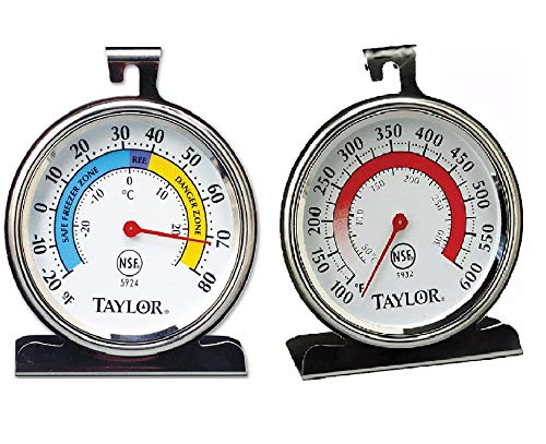 Taylor Precision Products Classic Series Large Dial Thermometer (Freezer/Refrigerator And Oven)
