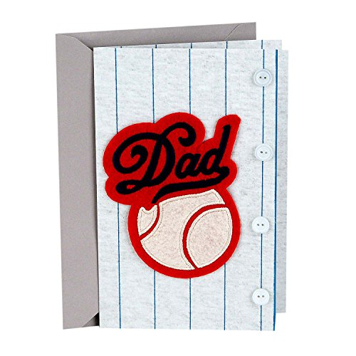 Hallmark Signature Father's Day Card for Dad (Baseball Uniform, Wouldn't Trade You for Anything)