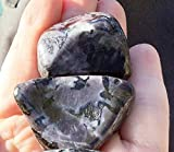 Merlinite Large Tumbled Stone with Pouch