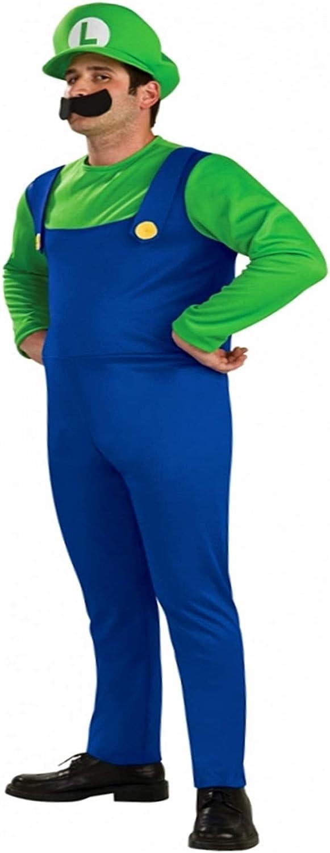 Disfraz de Luigi para hombre, talla M: Amazon.es: Juguetes y juegos