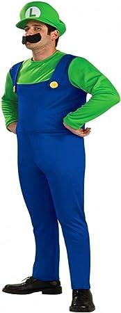 Disfraz de Luigi para hombre, talla L: Amazon.es: Juguetes y juegos