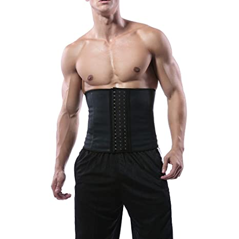e95b8b0ac3 Buy Healifty Mens Waist Trainer Slimming Waist Corset Lose Weight Muscle  Tank Shapewear Black Size L Online at Low Prices in India - Amazon.in