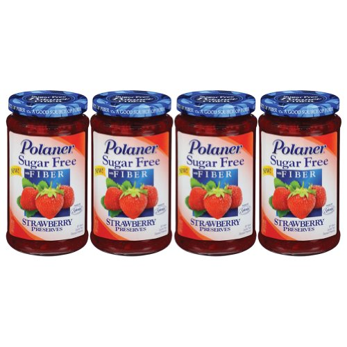 Polaner Sugar Free Strawberry Preserves - 13.5 oz (4 - 13.5 - Diabetic Strawberry Jam