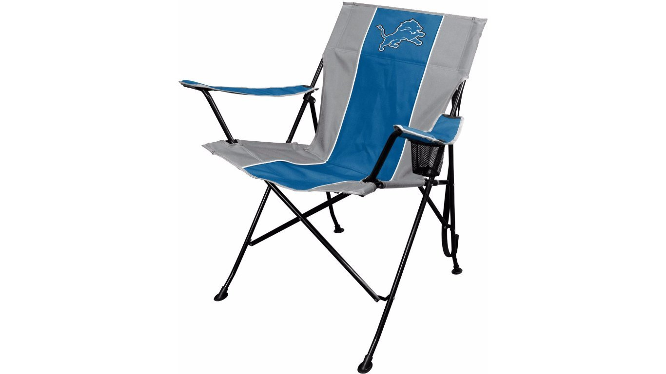 Fine Nfl Portable Folding Tailgate Chair With Cup Holder And Carrying Case Lamtechconsult Wood Chair Design Ideas Lamtechconsultcom
