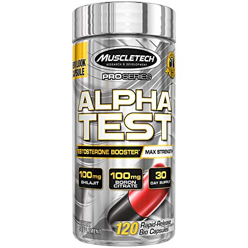 MuscleTech AlphaTest ATP & Testosterone Booster for Men, Boost Free Testosterone and Enhance ATP Levels, 120 Count (Best Testosterone Booster On The Market For Libido)