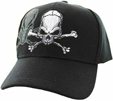 Crossbones Classic Adjustable Cotton Baseball Caps Trucker Driver Hat Outdoor Cap Black