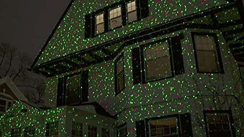 amazoncom outdoor aluminum alloy christmas laser light projector wireless remote controlled moving red and green star showmotion for decorating home - Laser Lights Christmas Decorations