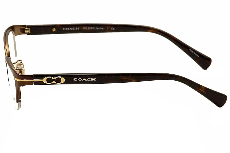 Amazon.com: Coach Jackie Eyeglasses HC5058 9199 Satin Dark Brown ...