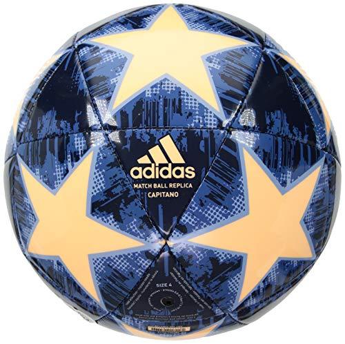 adidas Performance Champions League Finale 18 Capitano Soccer Ball, Medium Orange, Size 4