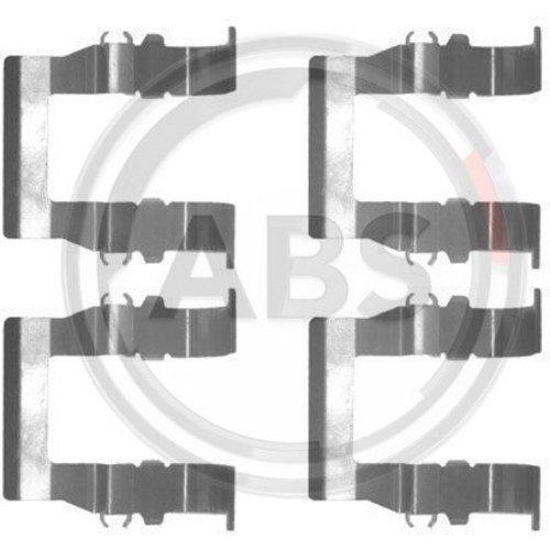 ABS 1194Q Kit de Accesorios, Pastillas de Frenos ABS All Brake Systems bv