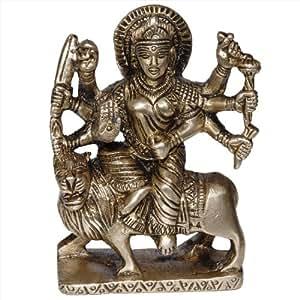 Estatuilla Hindú Durga Diosa Estatua Y Esculturas Indias 7.6 Cm