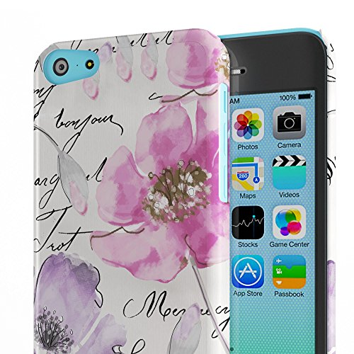 Koveru Back Cover Case for Apple iPhone 5C - Watercolor Floral Quartet