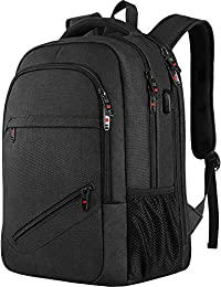 Laptop Backpack, Slim Durable Backpack with USB Charging Port,Water Resistant  Fits 15.6 Inch Laptop and Notebook - Black