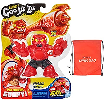 IP Heroes of Goo JIT Zu Redback The Goopy Series 2 Action Figure and Bonus: (Exclusive Swag Bag Filled with Extra Toys) for Boys Girls Playtime and Family Fun!: Toys & Games