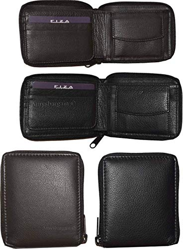 Wallet Lot Wallet 4 Zip NY FIZA of fold Bi BN Leather Purse Change Men's Around PrP8q